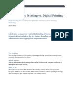 Flexographi Printing vs Digital Printing