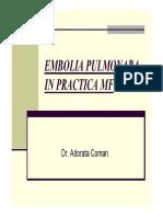 Prezentare Curs 1 Embolia Pulmonara Si TVP in MF