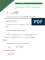 Razón y Proporciones