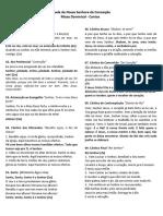 folheto de cantos - missa 20-11-2016