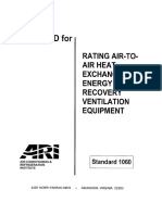 ARI Standard 1060 - Air to Air HXs for Energy Recovery Ventilation Equipment