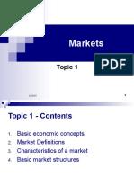 Topic 1 Markets