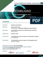 Programa Sesión Formativa CERMI Madrid-Ayto. Madrid ACCESIBILIDAD