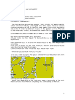Study of the Porosity and Permeability