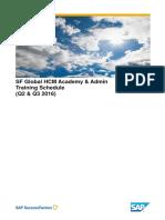 SF Global HCM Training Schedule