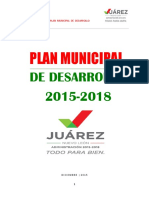 Portada e Indice PMD JUAREZ 2015-2018