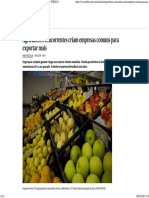 Agricultores Concorrentes Criam Empresas Comuns Para Exportar Mais - PÚBLICO