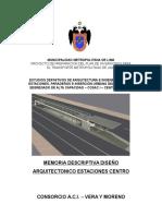 Memoria Descriptiva Arquitectura Centro