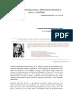 Antropología y Semiótica Cultural - Geertz Eco