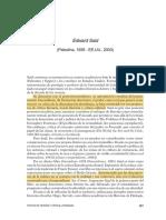 Edward Said Crisis