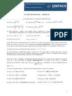 4ª Lista Cálculo 2 - 2016.2 (1)