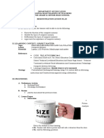 SHS Lesson Plan Specialization