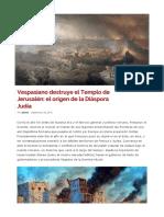 La Destrucción de Jerusalén en el año 70
