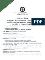 Programa Simposio Nacional Ciencia Cardiovascular USS Santiago 2016