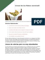 Valor Nutricional de Los Fideos Vermicelli de Arroz