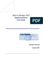 Host to Storage SAN Implementation- Lab Guide
