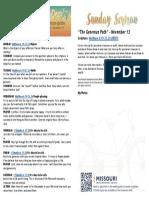 Growth Guide Week of November 14