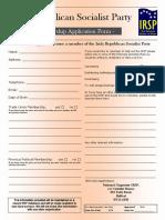 IRSP Application Form