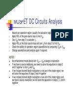 Mosfet Dc Analysis