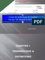Cours Metrologie et Qualité