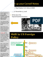 Day 3 - 2016 - Shift in US Policy - PearlHarbor & U.S. Entry - WWII