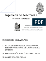 1. Introduccion Al Curso de Ingenieria de Reactores I
