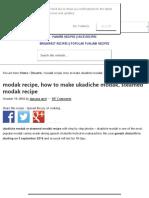 Modak Recipe, How to Make Ukadiche Modak, Steamed Modak Recipe