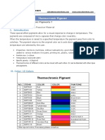 Thermochromic Technical Sheet