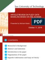 Fuzzy Model Presentation