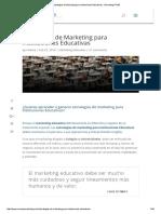 Estrategias de Marketing Para Instituciones Educativas - Marketing PYME