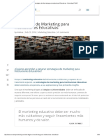 Estrategias de Marketing Para Instituciones Educativas - Marketing PYME