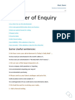 Enquiry and Its Reply !