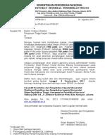 Surat Pengumuman Pkmkt Didanai 2011