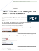 (Tutorial) HDD REGENERATOR Reparar Bad Cluster No Seu HD Ou Pendrive