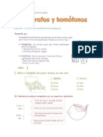 Homofonos y Homografos