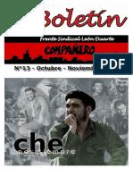 Boletín FRENTE SINDICAL LEÓN DUARTE Octubre-Noviembre.