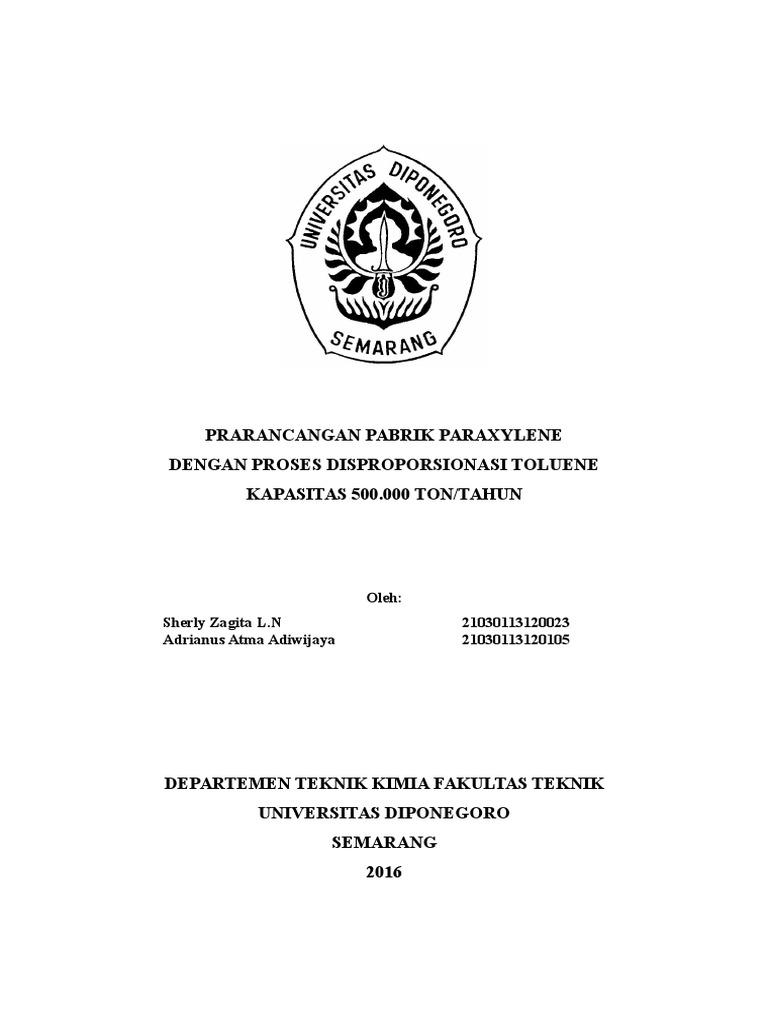 Proposal prarancangan pabrik paraxylene ccuart Gallery