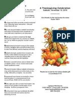 Thanksgiving Bulletin 11-19-16