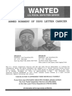 U.S. Postal Service Wanted Poster