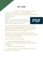 DIY UPS