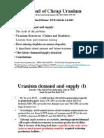Michael Dittmar The End of Cheap Uranium