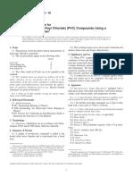 D 2538 - 02 Fusion of PVC Compounds Using a Torque Rheometer
