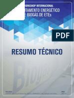 Sanepar. ResumoTecnico. Aproveitamento Energético de Biogás de ETEs