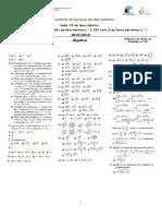 Soluções FT 22 - ALG - Álgebra