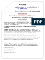 MF0018-Insurance and Risk Management