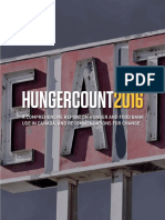 Food Banks Canada - Report - HungerCount 2016