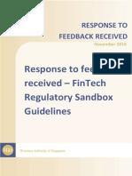 MAS Sandbox Response to Feedback Received