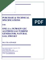 CTG - GT 39.78 MW