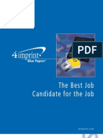Best Job Candidate Blue Paper