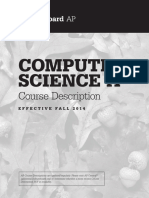 CompSci a Course Description
